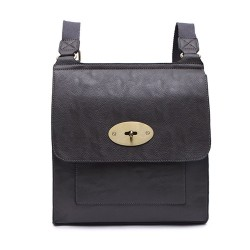 Long and Son 21601 Womens Grey Crossbody Bag