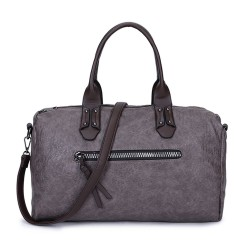 Long and Son 96616 Womens Grey Holdall Bag