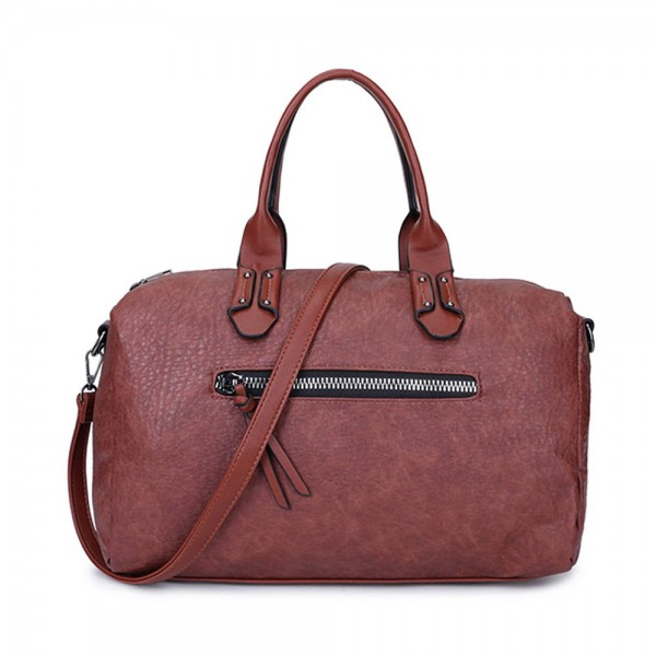 Long and Son 96616 Womens Brown Holdall Bag