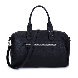 Long and Son 96616 Womens Black Holdall Bag