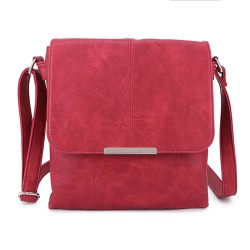 Long and Son 8183 Womens Red Crossbody Bag