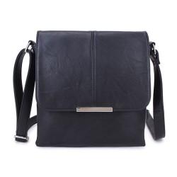 Long and Son 8183 Womens Black Crossbody Bag
