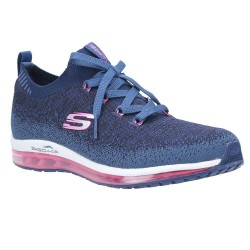 Skechers Skech-Air Element-Brisk Motio Ombre Knit Laced Slip On Trainer Navy