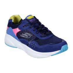 Skechers Meridian-No Worries Colour Blocked Sparkled Mesh Layered LaceUp Trainer