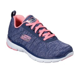 Skechers Flex Appeal 3.0 - Insiders Lace Up Air Cooled Memory Foam Blue Trainer