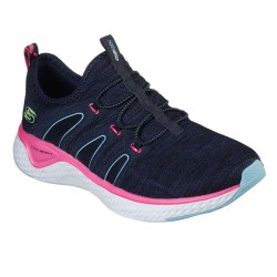 Skechers Solar Fuse-Electric Pulse Quarter Brace Mesh Slip On Trainer Navy