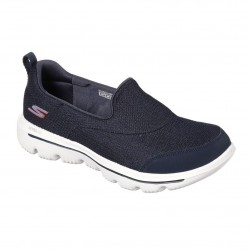 Skechers Go Walk Evolution Ultra - Reach Mesh Slip On Navy White Shoe