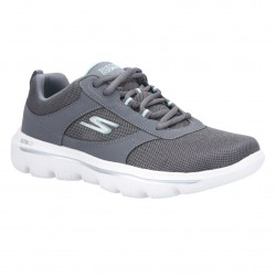 Skechers Go Walk Evolution Ultra-Enhance Quarter Overlay Lace Up Walking Shoe
