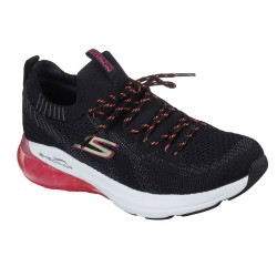 Skechers Go Run Air Engineered Flat Knit Lace Up Black Multi Trainer