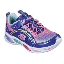 Skechers Shimmer Beams Ombre Lighted Touch Fastening Blue Multi Trainer