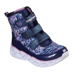 Skechers Heart Lights Scribble Hearts Lighted Sparkle Multi Hightop Trainer Boot