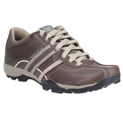 Skechers Urban Tread Refresh Lace Up Dark Brown Charcoal Shoe