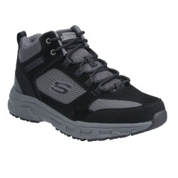 Skechers Oak Canyon-Ironhide Mid-Top Lace Up Mens Outdoor Shoe Black Charcoal