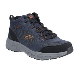 Skechers Oak Canyon-Ironhide Mid-Top Lace Up Mens Outdoor Shoe Navy Orange