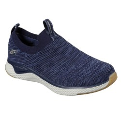 Skechers Solar Fuse Flat Knit Slip On Mens Navy Trainer