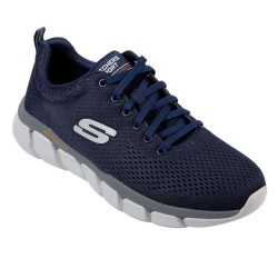 Skechers Skech-Flex 3.0-Verko Lace Up Engineered Mesh Mens Navy Jogger Trainer