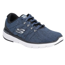 Skechers Flex Advantage 3.0 - Stally Lace Up Air Cooled Memory Foam Mens Trainer