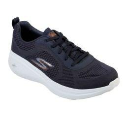 Skechers Go Run Fast Athletic Engineered Mesh Mens Lace Up Navy White Trainer