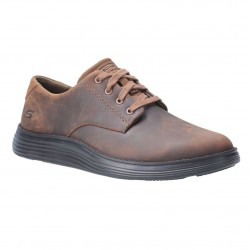 Skechers Status 2.0-Arleno Low Profile Lace Up Mens Dark Brown Shoe