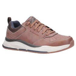Skechers Benago-Treno Low Profile Lace Up Mens Brown Shoe