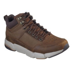 Skechers Metco-Boles Mid Top Padded Collar Lace Up Mens Dark Brown Boot