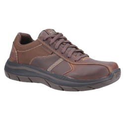Skechers Expected 2.0-Belfair Bike Toe Lace Up Mens Dark Brown Shoe
