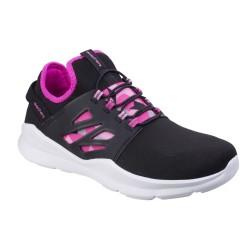 Skechers Skech Street Squad Prance Girls Black Hot Pink Trainer