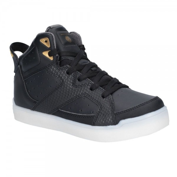 Skechers E-Pro Street Quest Boys Hi Top Black Trainer