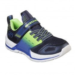 Skechers Nitrate 2.0 Gore & Strap Boys Navy Lime Trainer
