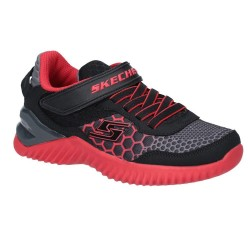 Skechers Ultra Pulse Rapid Shift Boys Black Red Trainer