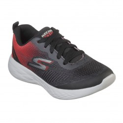 Skechers Go Run 600 - Haddox Boys Lace Up Trainer Black Red