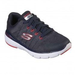 Skechers Flex Advantage 2.0 Lightweight Boys Lace Up Trainer Navy Charcoal