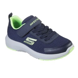 Skechers Dynamic Tread Lightweight Boys Blue Trainer with Rubber Sole