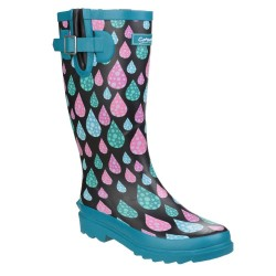 Cotswold Burghley Waterproof Pull On Womens Wellington Boot Raindrop