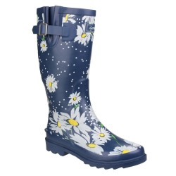 Cotswold Burghley Womens Daisy Waterproof Pull On Wellington Boot