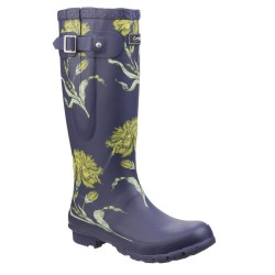 Cotswold Windsor Womens Flower Print Blue Wellington Boot