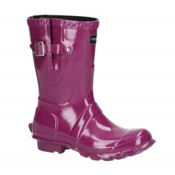 Cotswold Windsor Womens Gloss Short Purple Wellington Boot