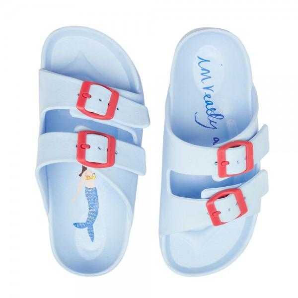 Joules Shore Girls Light Blue Sandal