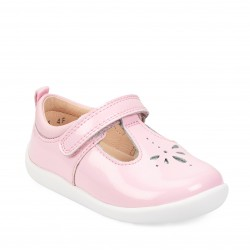 Start Rite Puzzle Girls Pale Pink Glitter Patent Shoe
