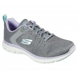 Skechers Flex Appeal Brilliant Womens Grey/Lavender Trainer