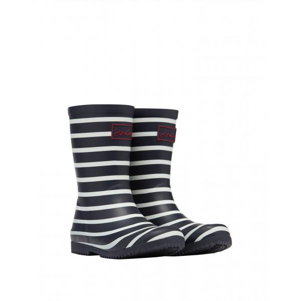 Joules Navy Stripe Boys Girls Welly Waterproof Boot