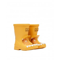 Joules Gold Lion Boys Girls Welly Waterproof Boot