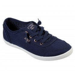 Skechers Bobs B Cute Womens Navy Canvas Shoe