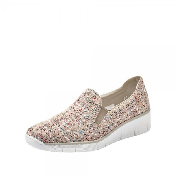 Rieker 5376661 Womens Beige Multi Shoe