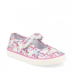 Start Rite Blossom Girls Pink Floral Canvas Shoe