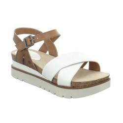 Josef Seibel Clea 10 Womens White Combi Sandal