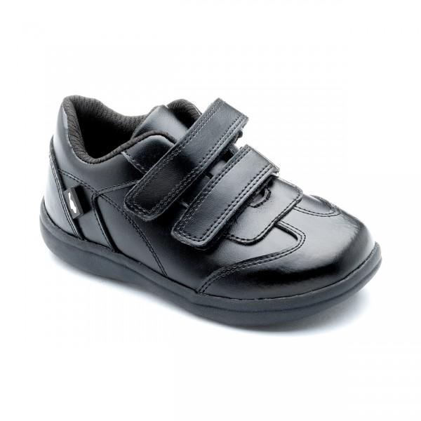 Chipmunks Ethan Boys Black School Shoe