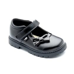 Chipmunks Olivia Girls Black School Shoe