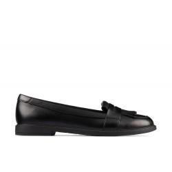 Clarks Scala Bright Girls Black Loafer School Shoe