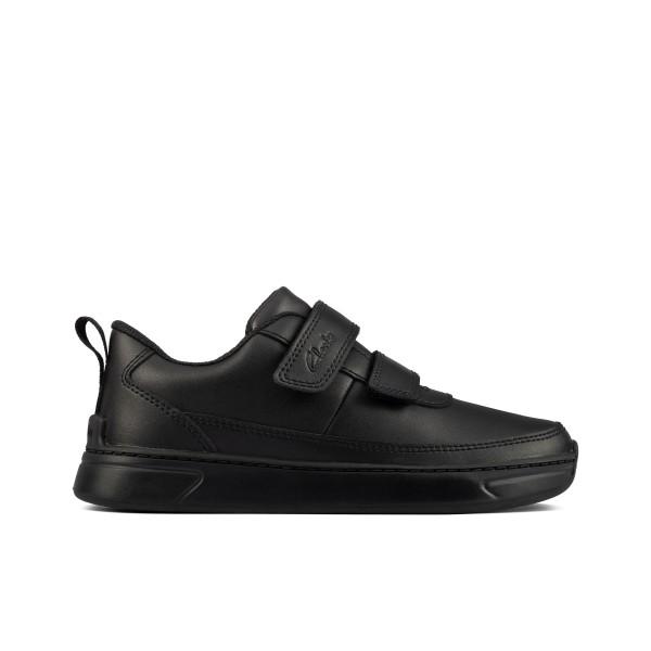 Clarks Vibrant Glow Boys Black School Shoe